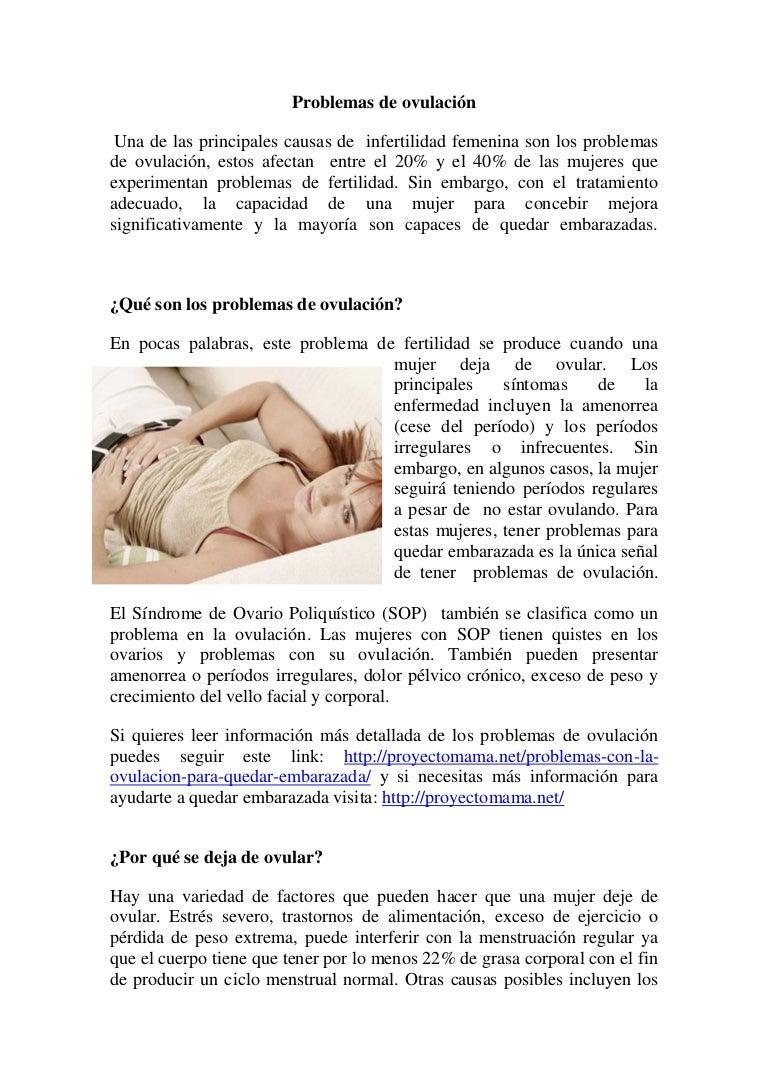 Periodo de ovulacion en mujeres regulares