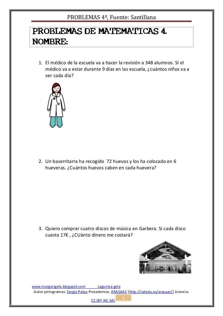 Problemas De Matematicas 4 Maila Iii