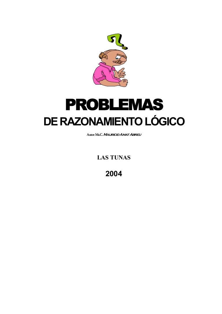 Problemas de razonamiento lógico libro de preguntas
