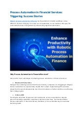 Process Automation in Financial Services: Triggering Success Stories