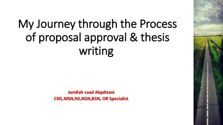 Approved proposal for dissertation