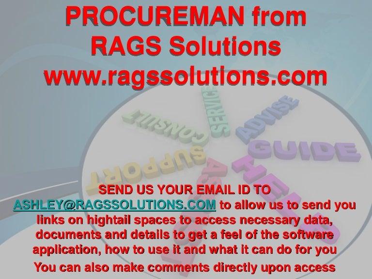 Procureman email assistance details