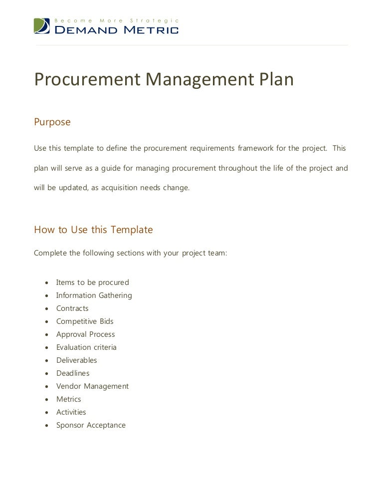 vendor management strategy template