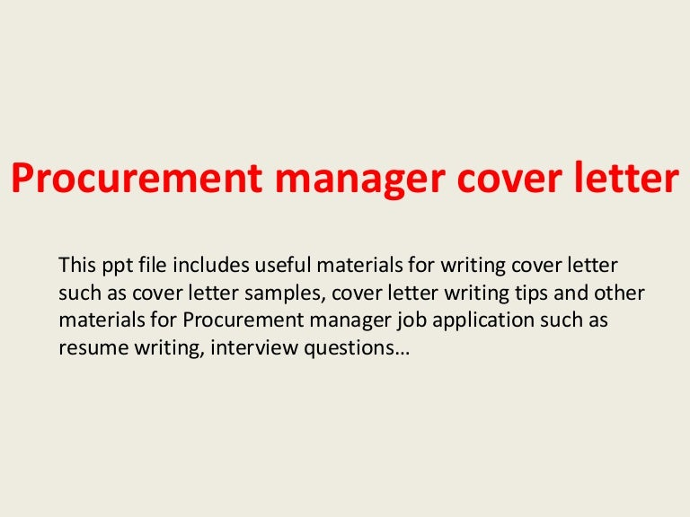 10 procurement specialist cover letter