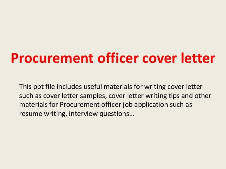 procurement specialist cover letter
