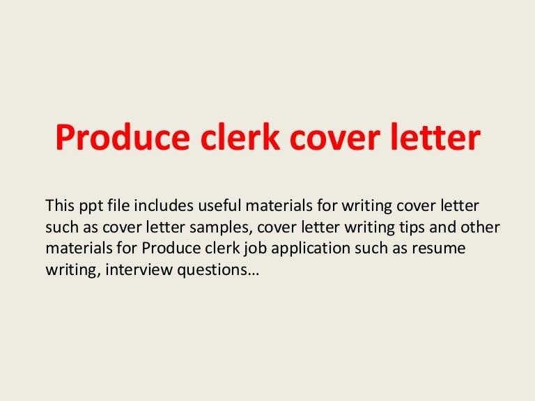 SlideShare  Produce Clerk Resume