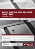 Product Brochure: Europe Clothing B2C E-Commerce Market 2015