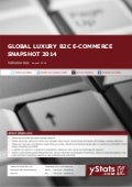 Product Brochure Global Luxury B2C E-Commerce Snapshot 2014