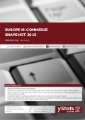 Product Brochure: Europe M-Commerce Snapshot 2015