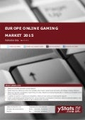 Product Brochure: Europe Online Gaming Market 2015