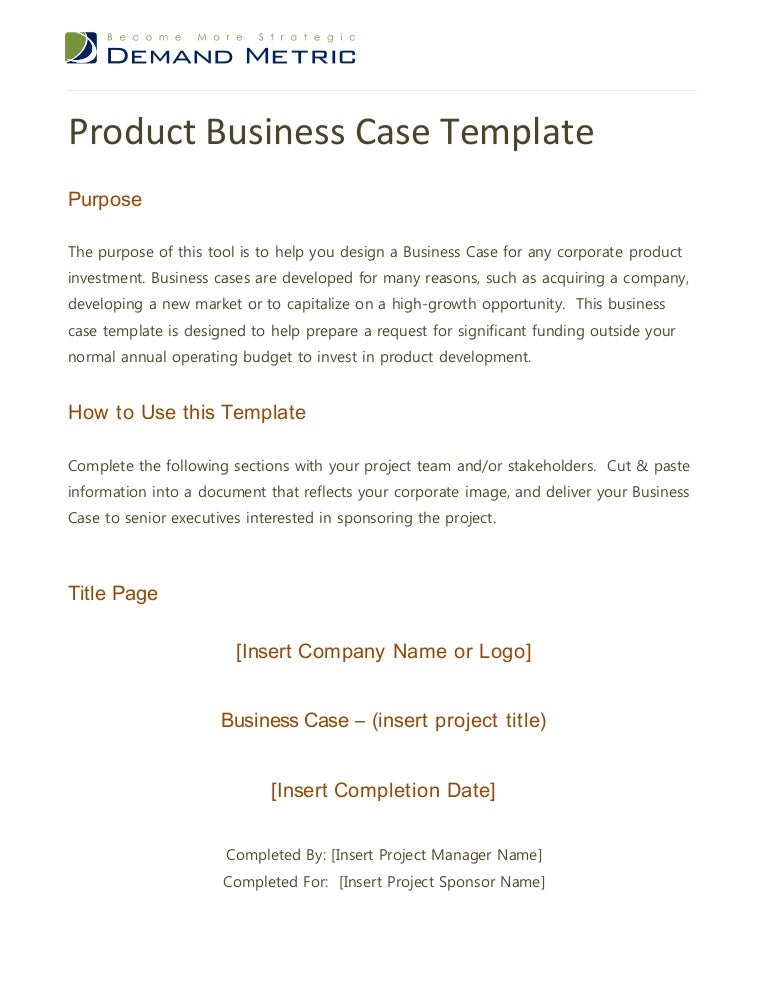 Business Case Template Doc Vosvetenet – Business Case Templates Free