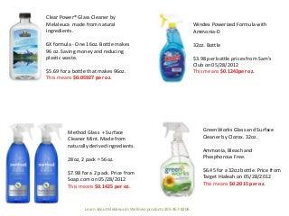 Product Comparisson