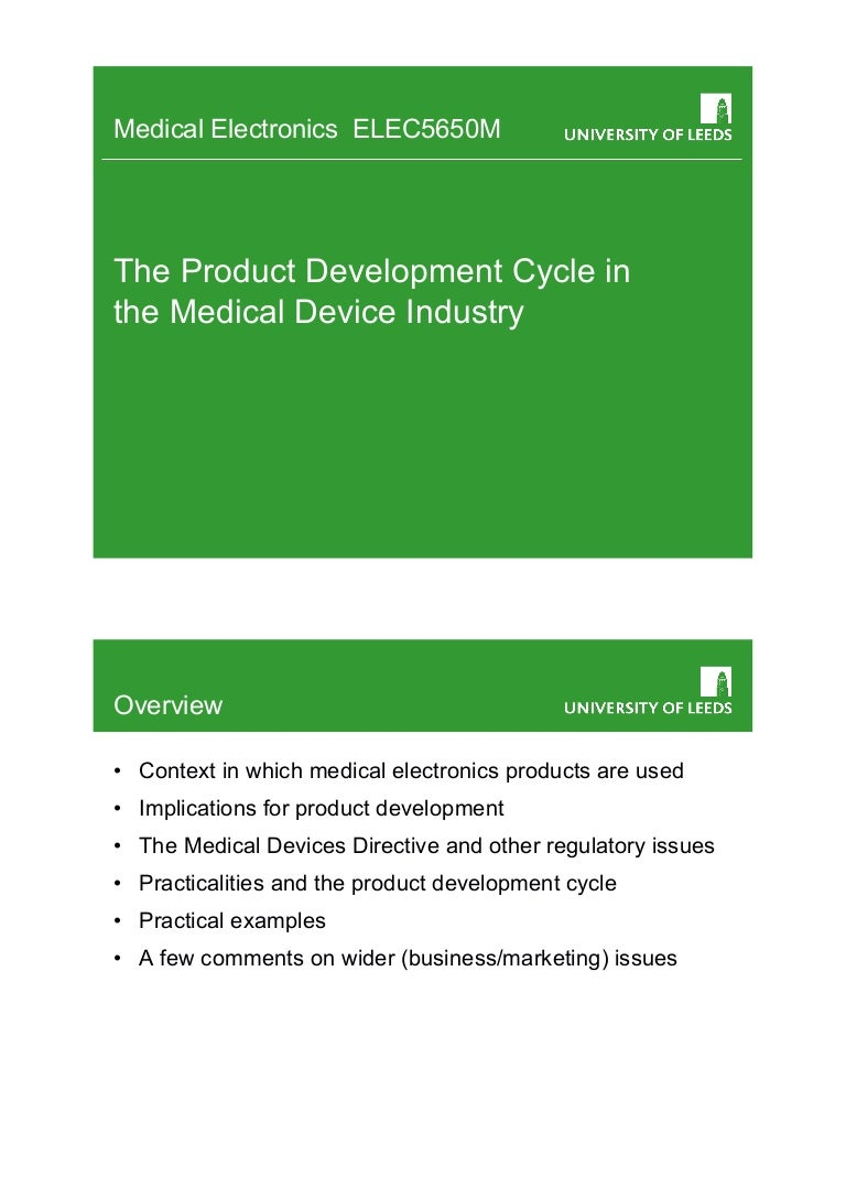 Medical Product Development cycle
