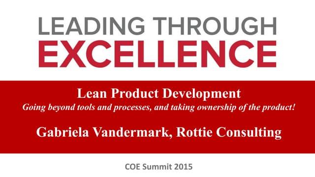 Product development osucoe summit15_gvandermark