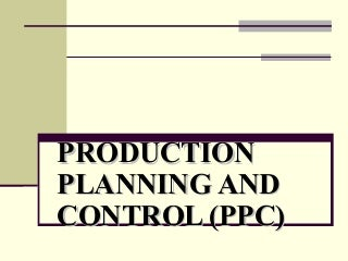 Production plan in business plan