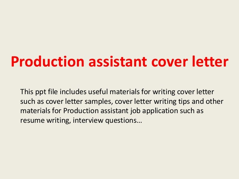 Productionassistantcoverletter 140223210337 Phpapp02 Thumbnail 4cb1393189451