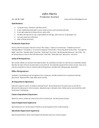 tv production assistant resumes   bling resume   go for it production assistant linkedin  tv production assistant resume template professional