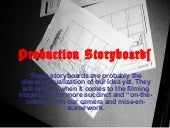 Production storyboards