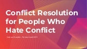 "Joshua Mauldin ""Conflict resolution for people who hate conflict"" Productized19"