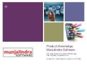 Product knowledge munjalindra software - 2015