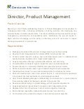 Product Management Director Job Description