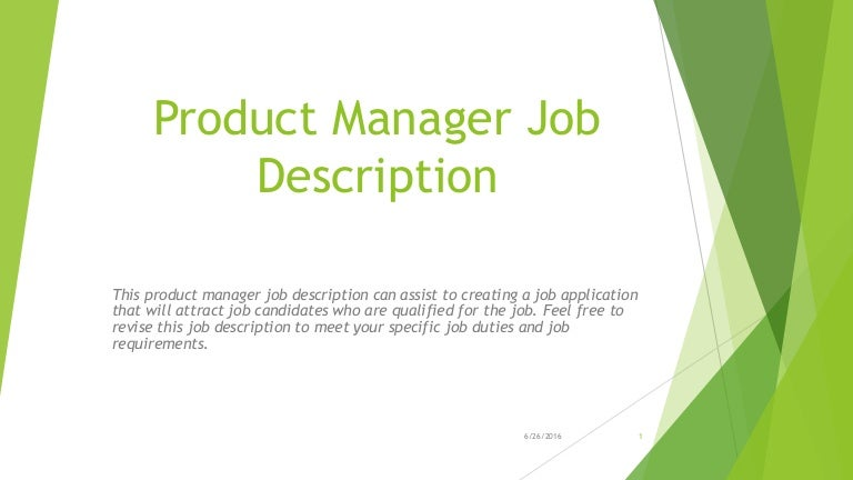 product manager job description