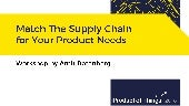 Match the supply chain for your product needs with Amit Rotenberg
