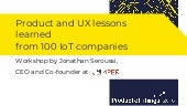 Product and UX lessons learned from 100 IoT companies with Jonathan Seroussi