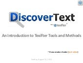 DiscoverText Product Overview