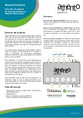 Product Sheet Athento Platform