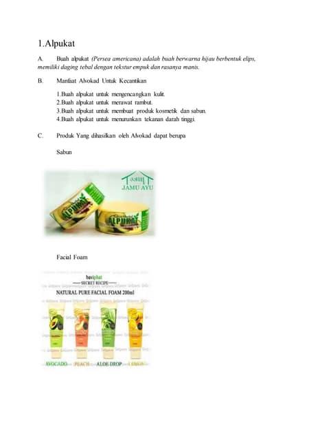 Produk kosmetik nabati dan hewani 2