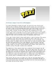 Professional airport Taxi service in Birmingham