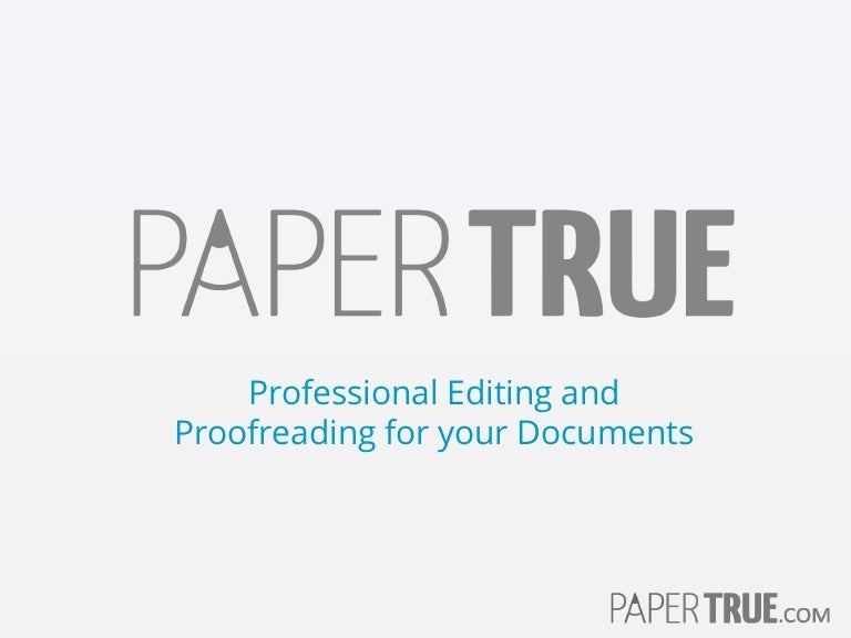 Professional proofreading service