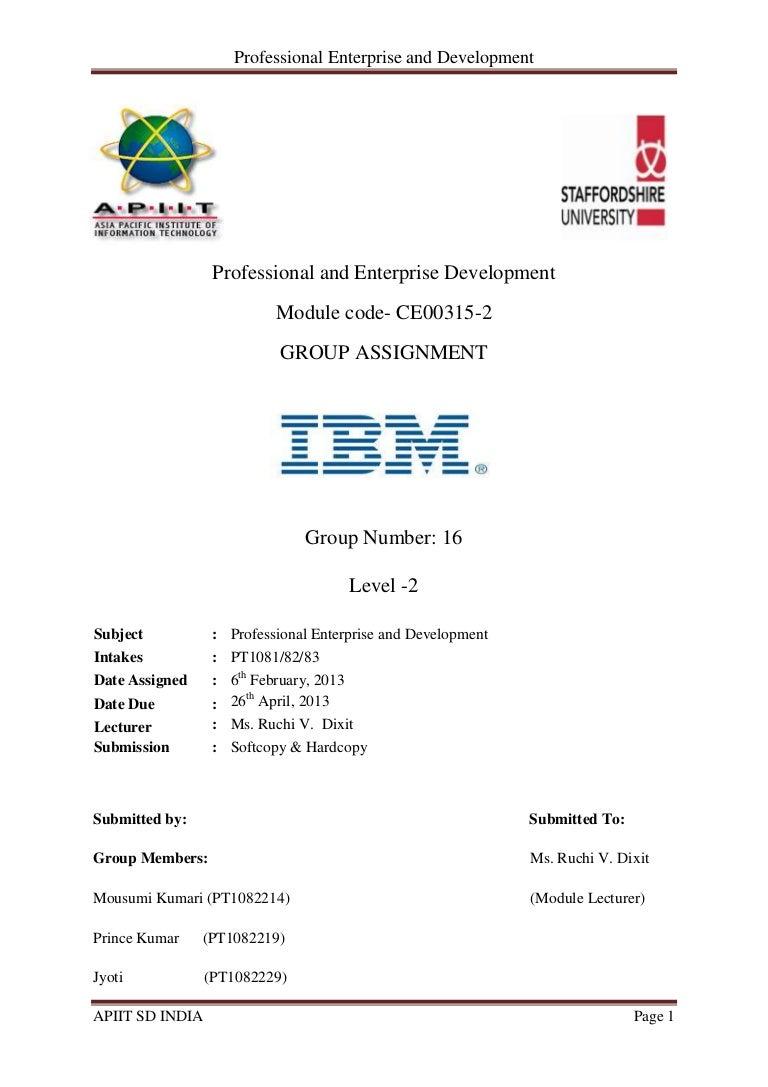 Professional enterprise and development - IBM