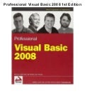 Professional visual basic 2008 1st edition pdf ebook full free