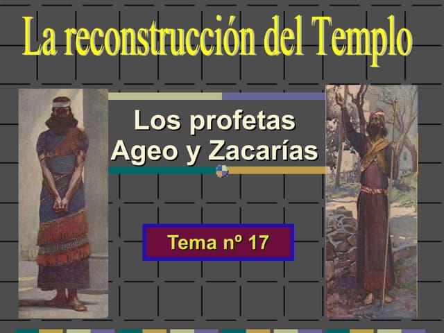 Profetas Ageo y Zacarías