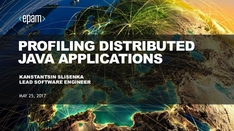Profiling distributed Java applications
