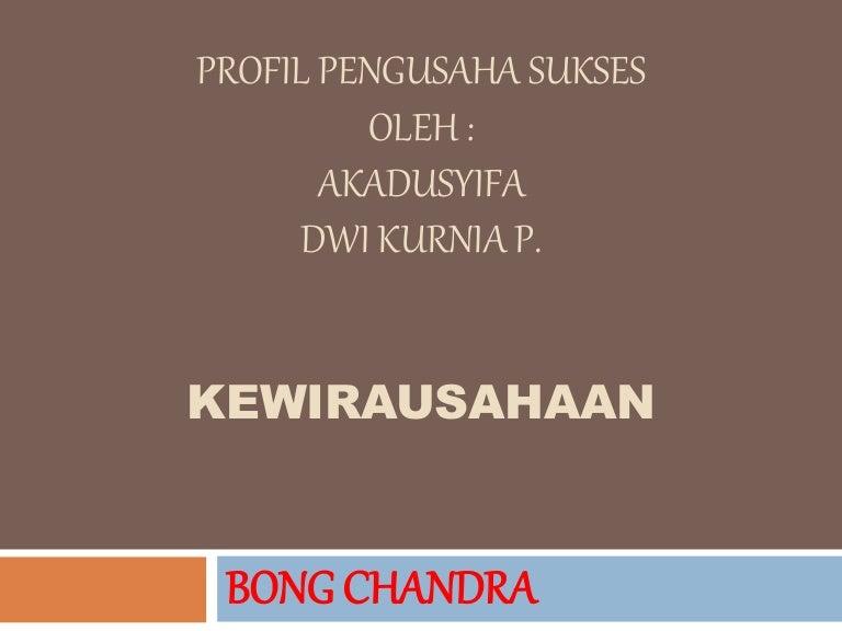 Profil Pengusaha Sukses