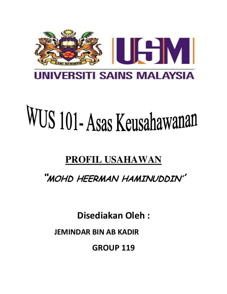 Profil Usahawan