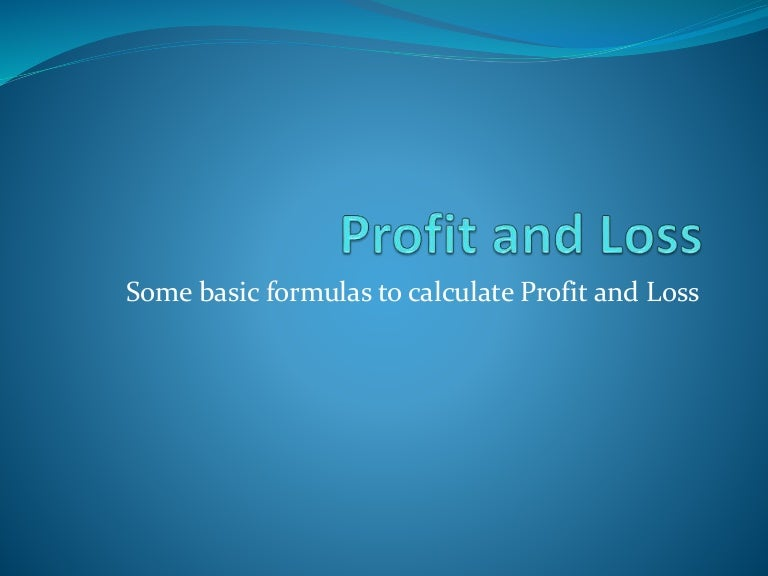 profit and loss app