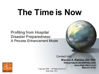 Profiting From Hospital Disaster Preparedness: A Process Enhancement Model