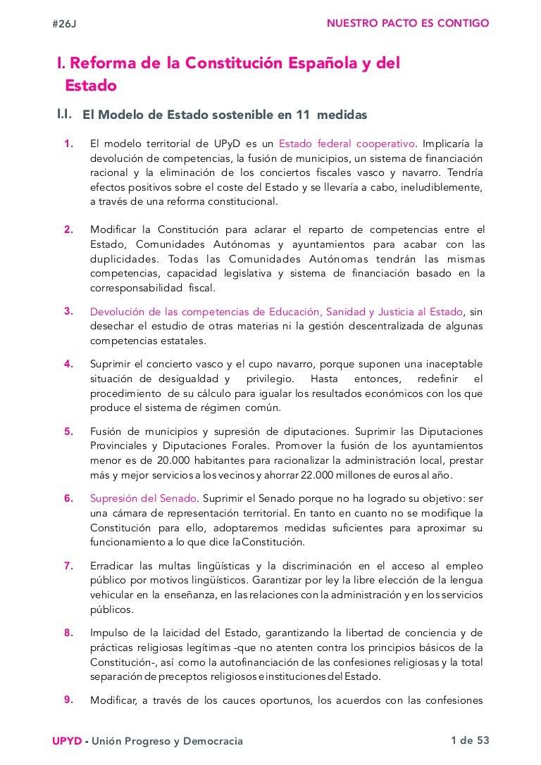 Programa electoral 26-J: UPyD