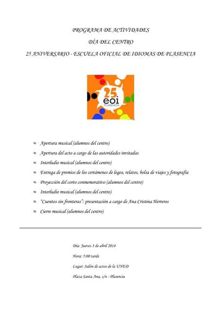 Programa 3 abril 2014