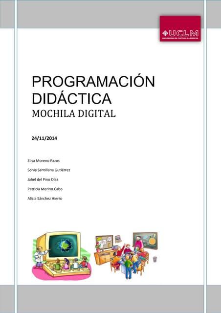 Programación didáctica. mochila  digital
