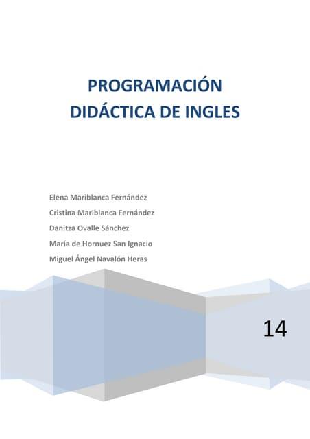 Programación didáctica inglés