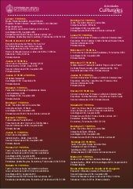 Programacion actividades culturales julio 2013