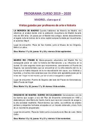Programa curso 2019 2020 madrid