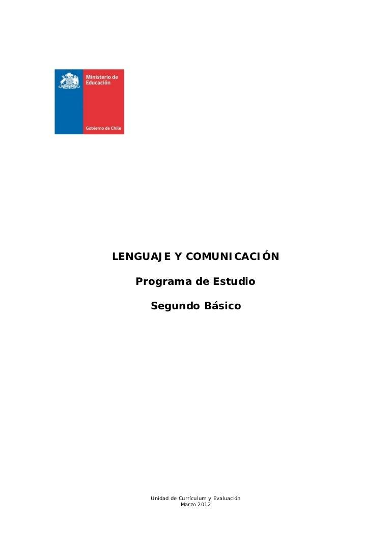 Programa de estudio 2° básico lenguaje