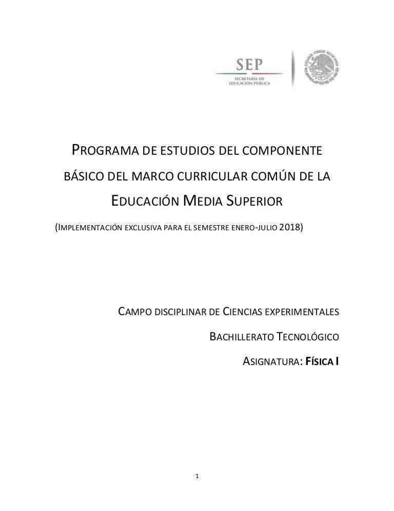 Programa De Fisica 2018