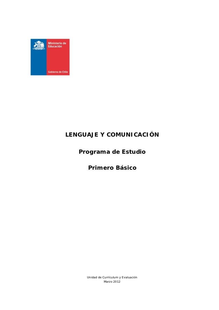 Programa de lenguaje 1º